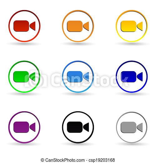 kamera, video, icons. - csp19203168