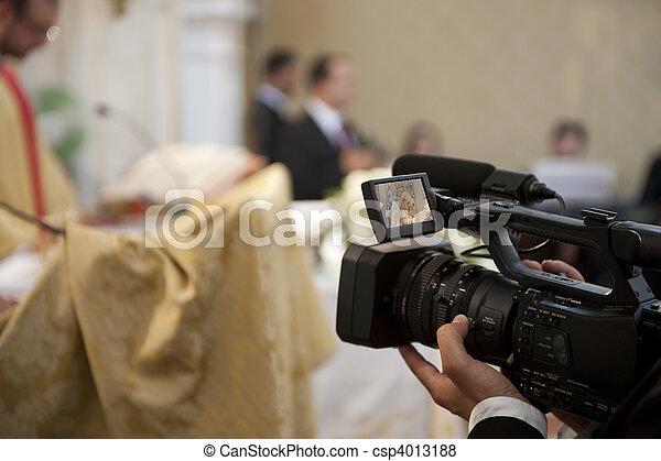 kameramann, hochzeit - csp4013188