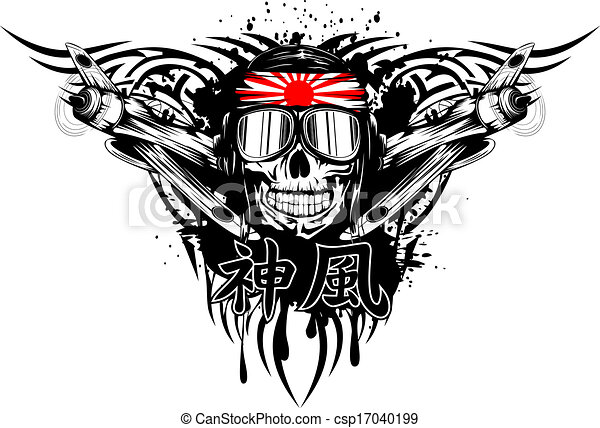 kamikaze in helmet  - csp17040199