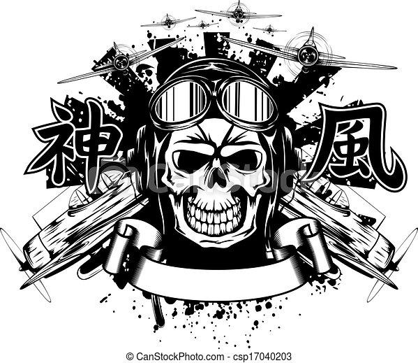 kamikaze in helmet  - csp17040203