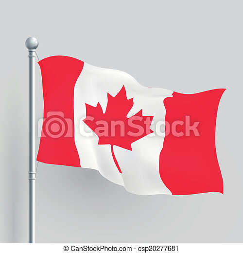 kanada kennzeichen, vektor, 3d - csp20277681