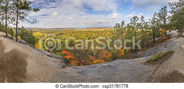 Kanada Ontario Panorama Farbe Wald Herbst Warte