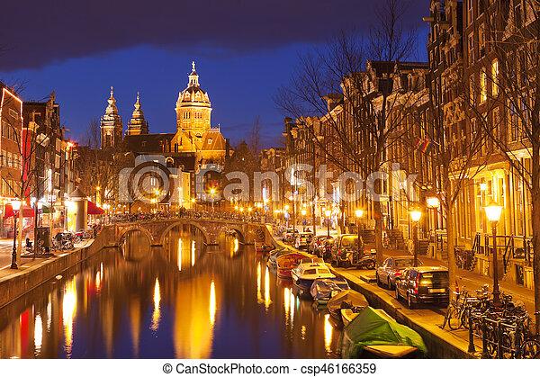 Licht Tour Amsterdam : Kanal niederlande amsterdam nacht kanal niederlande bezirk