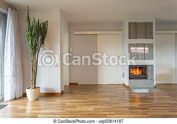 kandalló, szoba, üres - csp50814187
