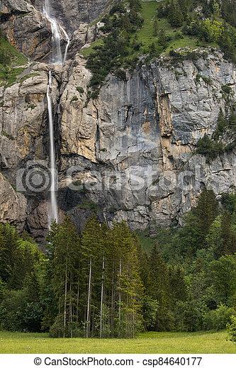 Kandersteg - amazing vacation destination in the Swiss Alps - csp84640177
