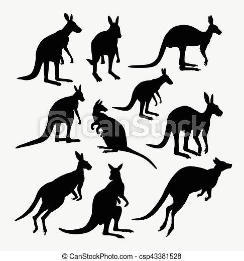 Kangaroo Action Animal Silhouette Good Use For Symbol Web Icon
