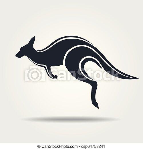 Kangaroo icon isolated on a white background - csp64753241