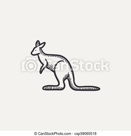 kangaroo sketch icon kangaroo sketch icon for web mobile and
