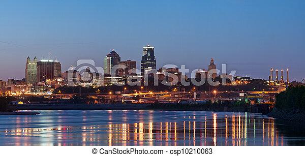 Kansas City skyline panorama. - csp10210063