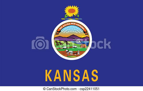 kansas state flag the flag of the state of kansas