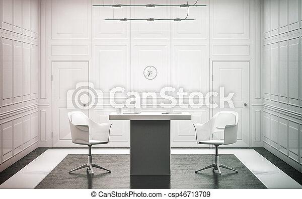 Kantoor luxe leeg interieur witte ontwerp werken kantoor