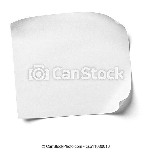 kantoor, papier, witte , zakelijk, aantekening - csp11038010