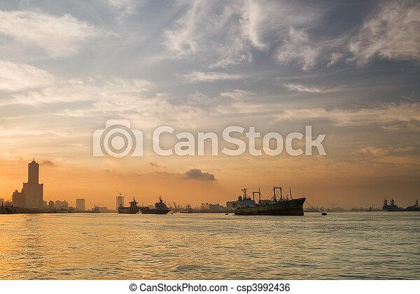 Kaohsiung city morning - csp3992436