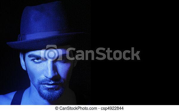 kapelusz, człowiek - csp4922844