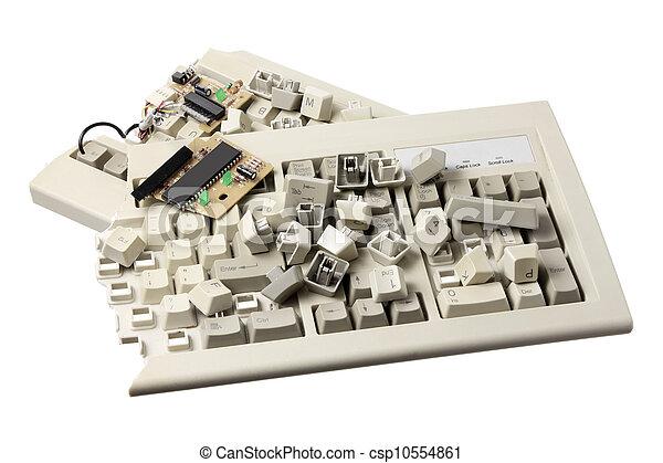 Wonderbaar Kapot, computer toetsenbord Stockbeeld | csp10554861 EE-33