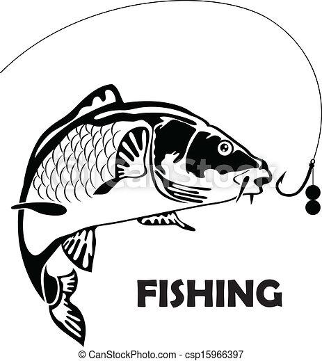 Kapr Navnada Fish Fish Kapr Vektor Ilustrace