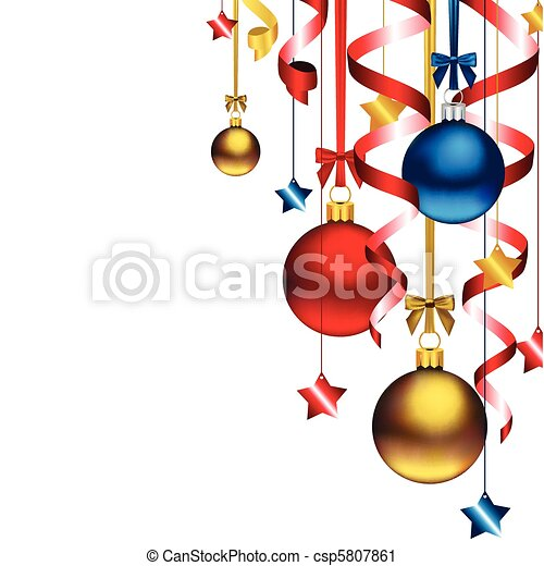 karácsony, háttér - csp5807861