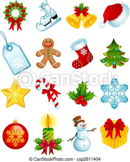 karácsony, ikonok - csp2611404
