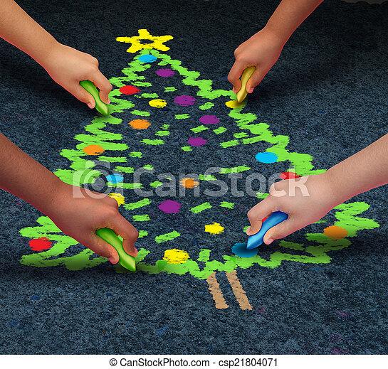 karácsony, közösség - csp21804071