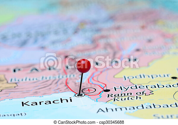 Map Of Asia Karachi.Karachi Pinned On A Map Of Asia