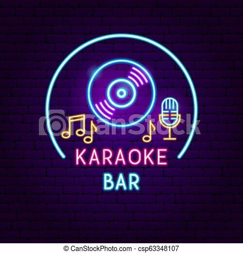 Karaoke Bar Neon Sign