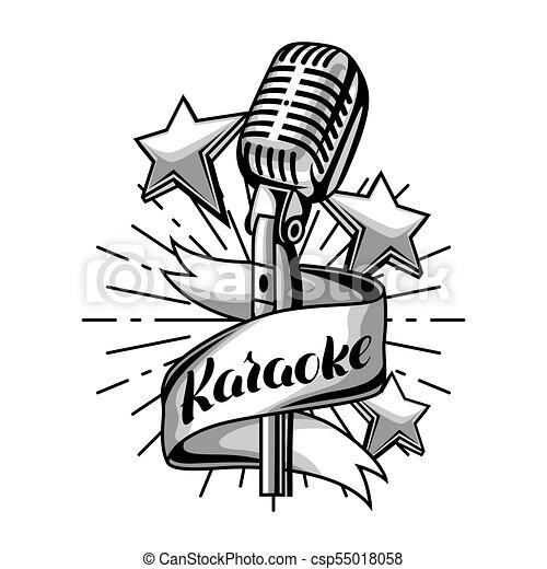 Karaoke party label. music event background. illustration ...   450 x 470 jpeg 30kB
