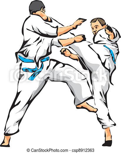 karate fight - unarmed combat - csp8912363