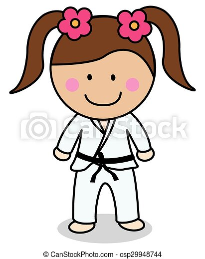 karate girl eps vector search clip art illustration drawings and rh canstockphoto com karate clipart free karaté clipart