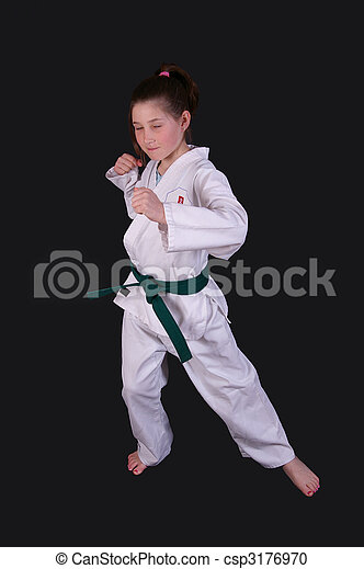 Karate Girl - csp3176970