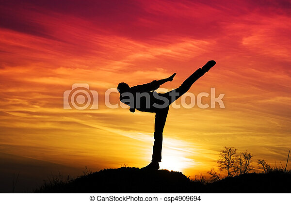 Karate kick - csp4909694