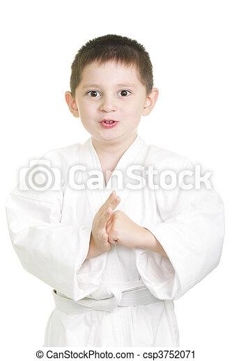 Karate kid in greeting stance little karate kid in greeting stance karate kid in greeting stance csp3752071 m4hsunfo