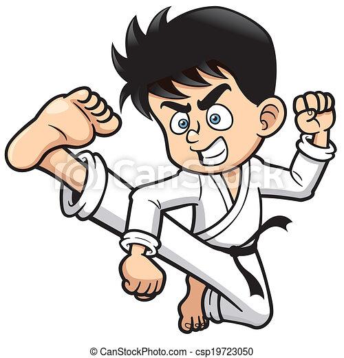 Patada de karate - csp19723050