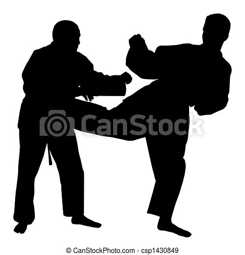 Pelea de karate - csp1430849