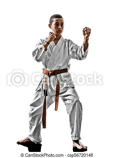 karate, teenager, kind - csp56720148