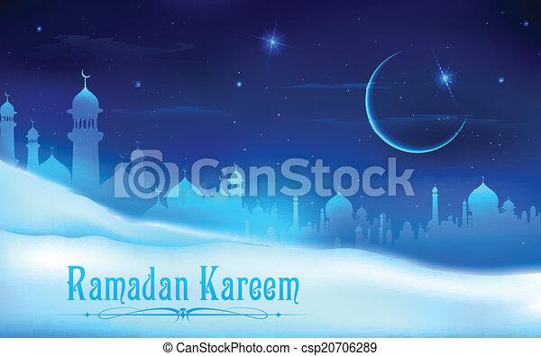 Ramadan kareem (Generous ramadan) antecedentes - csp20706289
