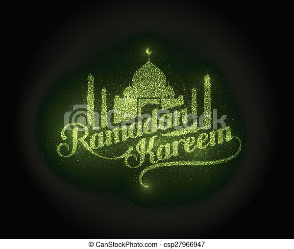 kareem, glänzend, ramadan, etikett - csp27966947