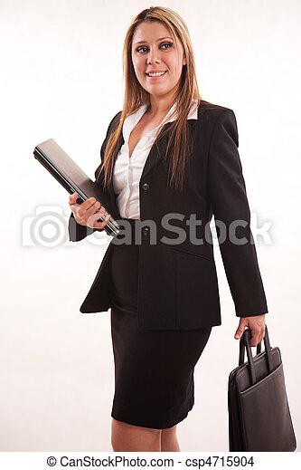 kariera, hispanic kobieta, pociągający, dorosły - csp4715904