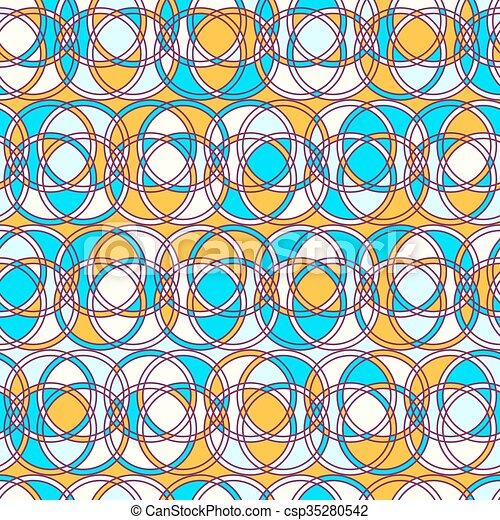 karikák, motívum, megvonalaz, seamless - csp35280542