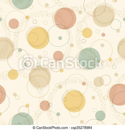 karikák, motívum, seamless, retro - csp35278984