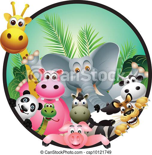 karikatúra, állat - csp10121749