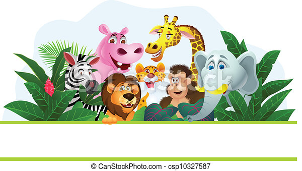 karikatúra, állat - csp10327587