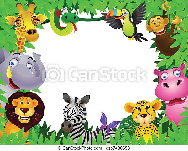 karikatúra, állat - csp7430658