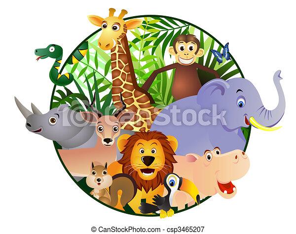 karikatúra, állat - csp3465207