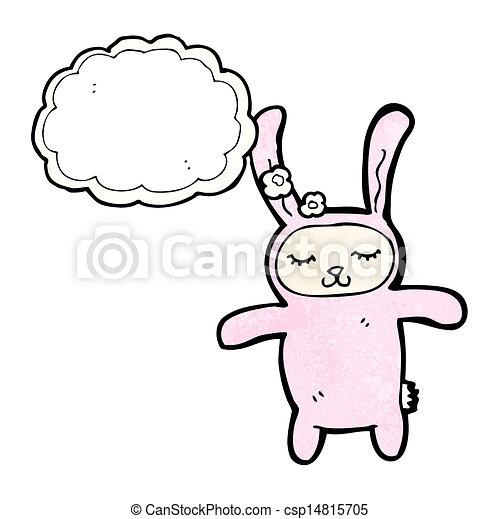 karikatúra, üregi nyúl, nyuszi - csp14815705