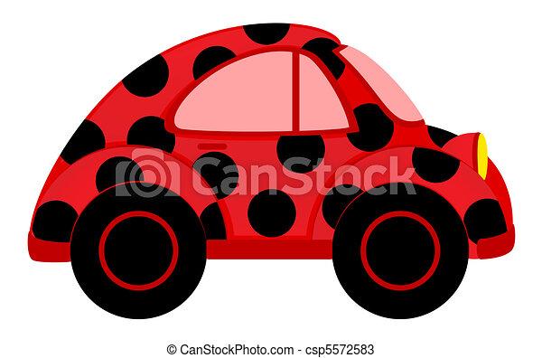 karikatúra, autó - csp5572583