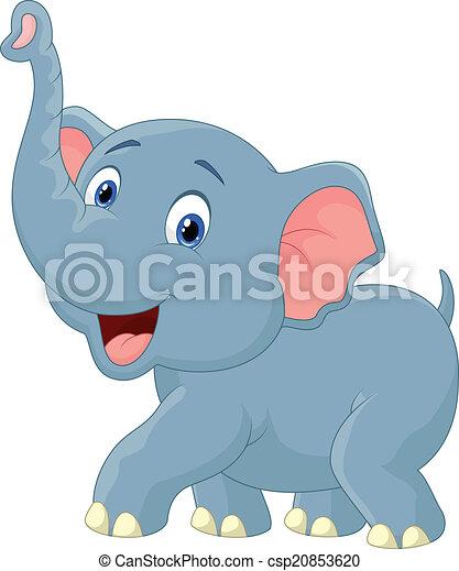 karikatúra, elefánt - csp20853620