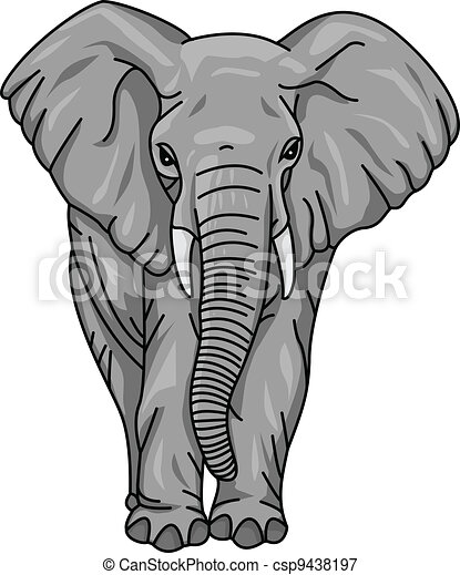 Elefant Cartoon - csp9438197
