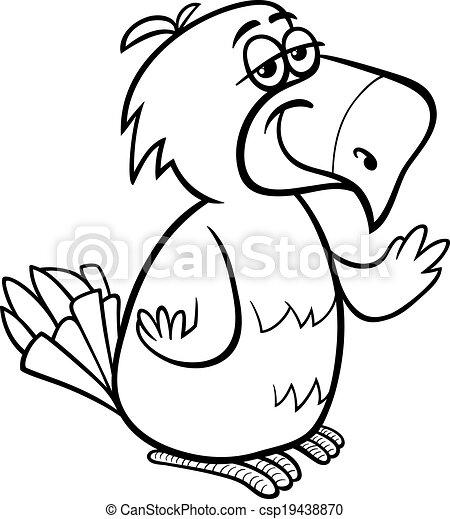Karikatur, färbung, seite, papagai, vogel. Lustiges,... Vektoren ...