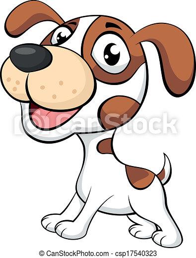karikatur, hund, reizend - csp17540323