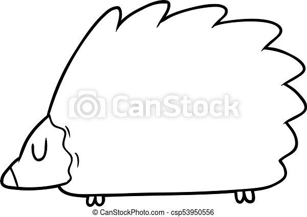 karikatur, igel - csp53950556